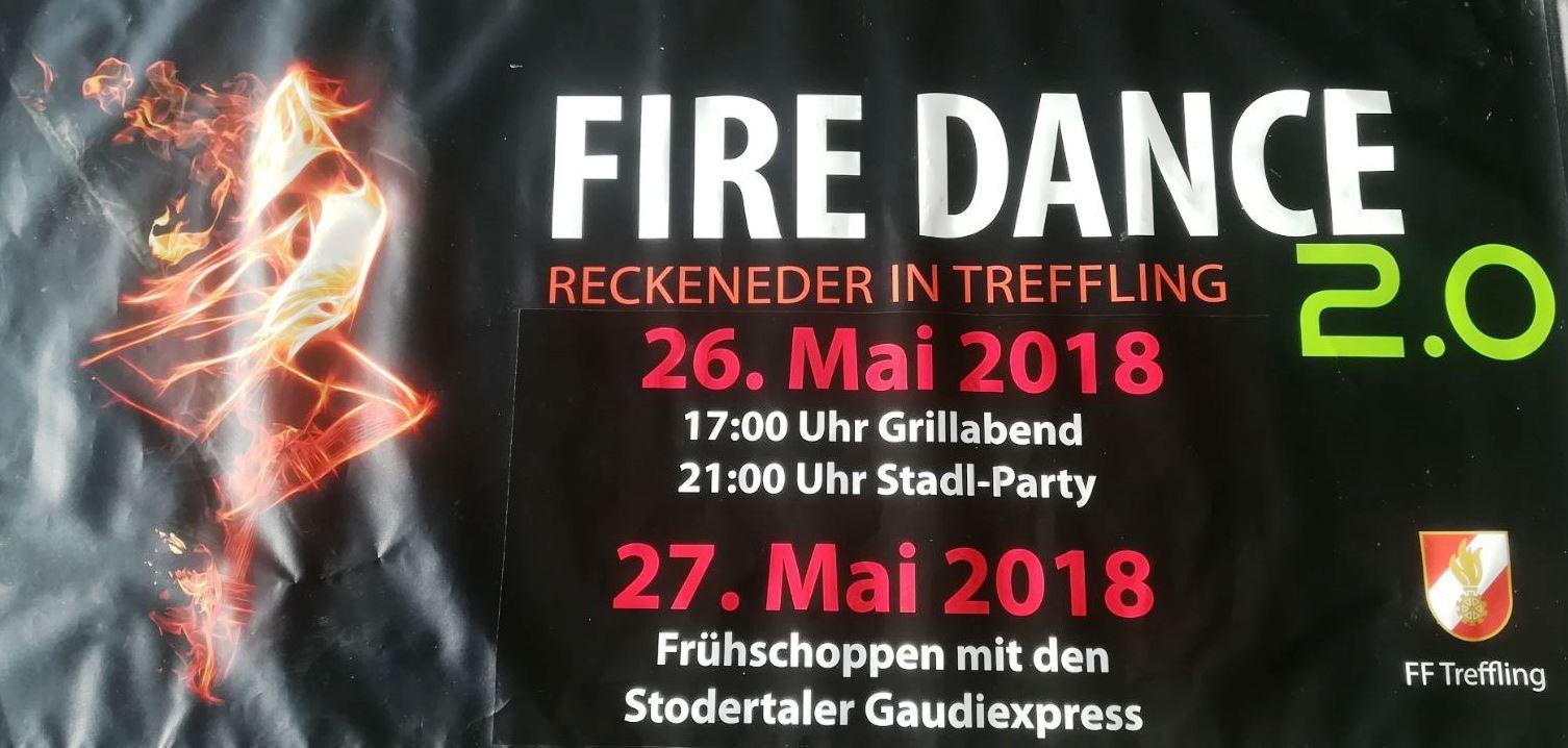 FIRE DANCE - FF Treffling - Einladung für  26. und 27. Mai 2018